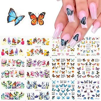 Nail Art Sticker Woord Hart Russische Brieven Water Transfer Stickers Set