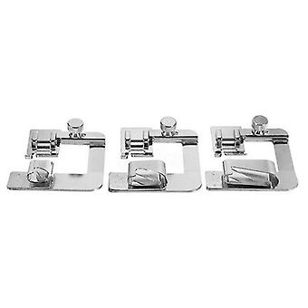 Domestic Sewing Machine Foot Presser, Rolled Hem Feet Set For Brother Singer