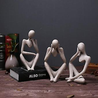 Creative Abstract Thinker People Figurine Craft Office, Home Decor -getive