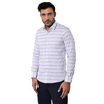 قميص أبيض منقوشة للرجال | wessi