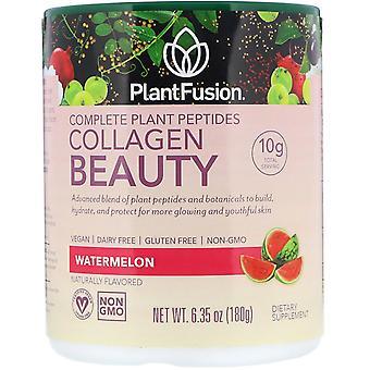 PlantFusion, Complete Plant Peptides, Collagen Beauty, Watermelon, 6.35 oz (180