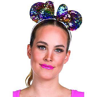Muis omkeerbare Pailletten Pailletten Smoth Oren Mickey Mouse Mouse Oren