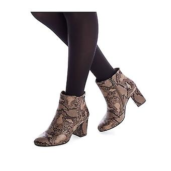 Xti - Shoes - Ankle boots - 35160_TAUPE - Ladies - burlywood,saddlebrown - EU 41