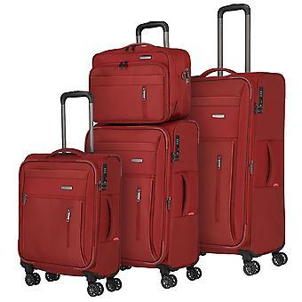 travelite Capri L/M/S 4 ruedas, bolsa de cartón, rojo