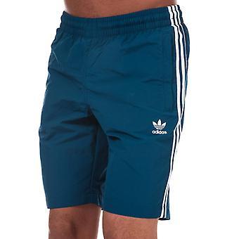 Men's adidas Originals 3 Streifen Badeshorts in Blau