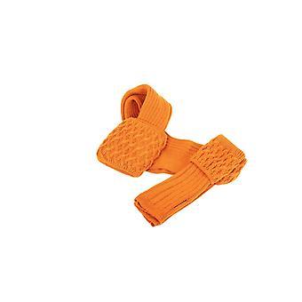Huis van Cheviot Ladies Lady Rannoch Sock & Wrist Warmer Set ~ Burnt Orange