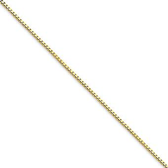 10k Yellow Gold Polished Lobster Claw Closure 1.30mm Box Chain Anklet 9 Inch Lobster Claw Jewelry Gifts for Women