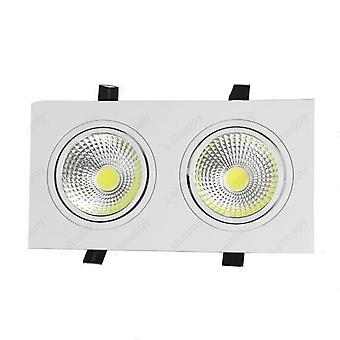 Led Recessed Light Dual Head Grille Lamp White Shell