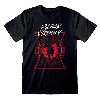 Black Widow Unisex Adult Silhouette T-Shirt