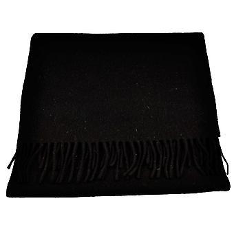 Ties Planet Tresanti Celeste 100% Finest Mongolian Virgin Wool Plain Black Scarf