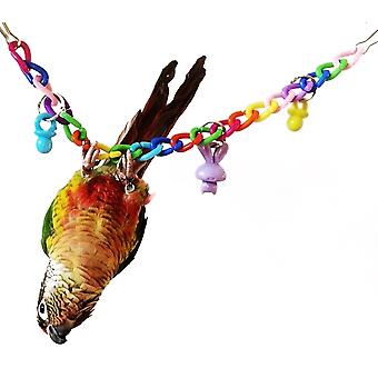Bird Parrot Toy Acrylic Snap Swing Climbing Rope