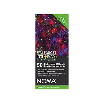 Noma Fit & Forget Multi Function Lights Multi Colour x 50 6816001GM