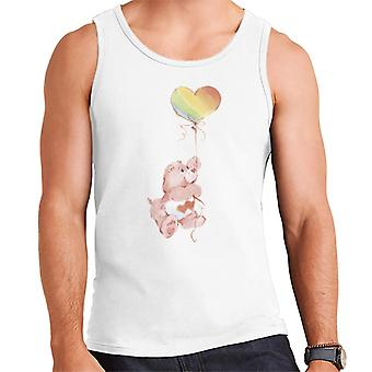 Care Bears Love A Lot Bear Rainbow Balloon Men's Vest