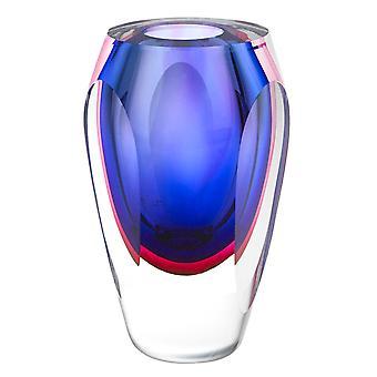 "Essence Murano Style Art Glass Violet 9"" Jarrón"