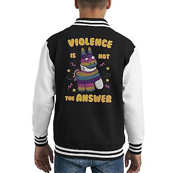 Painata Väkivalta ei ole vastaus Kid's Varsity Takki
