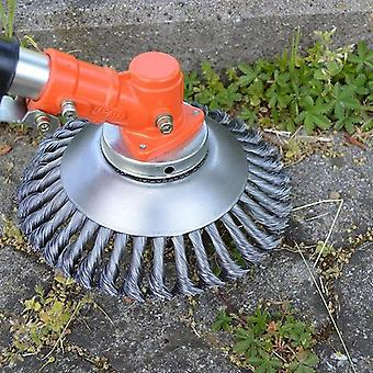 Steel Wire Grass Trimmer, Head Rounded Edge, Weed Brush Removal Tray Plate