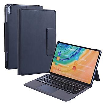 T1061 ل Huawei Matepad برو / برو 5G 10.8 بوصة فائقة رقيقة اللمس لوحة المفاتيح بلوتوث متكاملة + الحملبنج نسيج PU حقيبة واقية الجلود مع براك