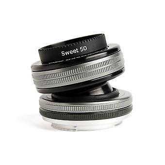Lensbaby 50 mm/f 2.5 συνθέτης pro με γλυκό φακό 50 nikon f