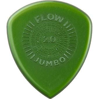 Jim dunlop 547p2.00 flow jumbo grip picks, 2 mm, set of 3 pieces 2.0mm player pack 3 picks