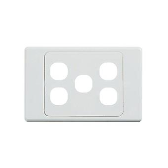 Ultima 5 Gang Switch Cover White