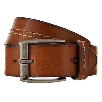 kamel aktivt bälte mäns bälte läderbälte Förkortas Cognac 1174