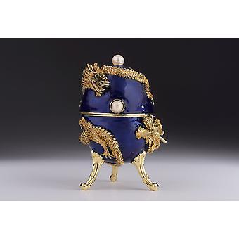 Faberge-muna lohikäärmemusiikin soitto-helylaatikolla