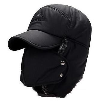 Chapeaux de bombardier de visage de protection d'oreille et plus épais plus chapeau chaud d'hiver de femme de velours,