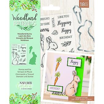 Crafter's Companion Woodland Friends Stamp & Die Woodland Bunny