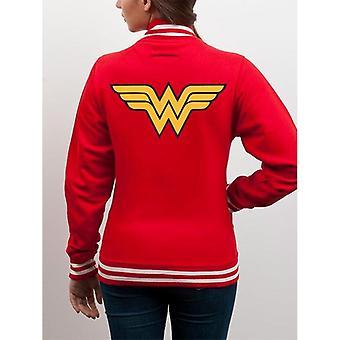 Mulher Maravilha Adultos Unisex Adultos Logotipo Design College Jacket