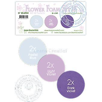 Leane Creatief Flower Foam A4 Sæt 18 Pastel 3