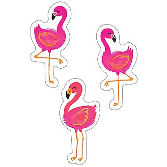 Simply Stylish Tropical Flamingos Cut-Outs, 36 Per Pack, 3 Packs