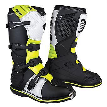 2020 Shot X10 2.0 MX Boots Adult - Black/White/Yellow