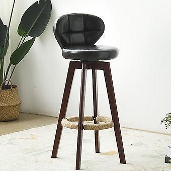 Nueva silla Bamboo Solid Wood Elm Bar Retro Color Cannabis Rotate Taburete Bar Chair