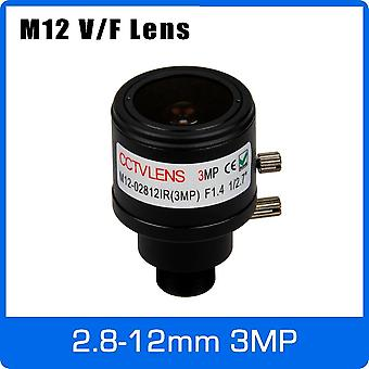 M12 Mount 1/2.7 Inch Manual Focus And Zoom Varifocal Cctv Lens For 720p, 1080p