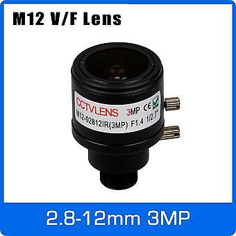 M12 Mount 1/2.7 inç Manuel Odak ve Zoom Varifocal Cctv Lens 720p, 1080p için