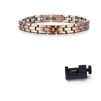 Mens Elegant Pure Copper Therapy Link Bracelet, Pain Relief For Arthritis And