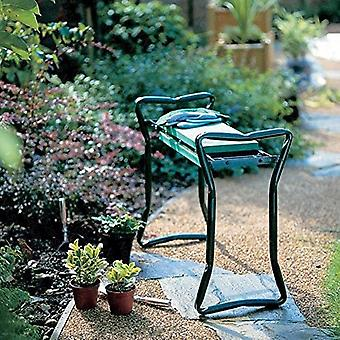 Kannettava puutarha polvilumpio kahvoilla taittuva puutarhajakkara / tuoli Evan kanssa