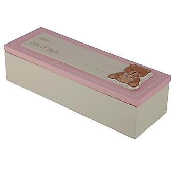 Tyttövauvan muistolaatikko - syntymäaika