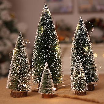 السنة الجديدة ميني عيد الميلاد شجرة صغيرة شجرة الصنوبر البسيطة ديكور عيد الميلاد