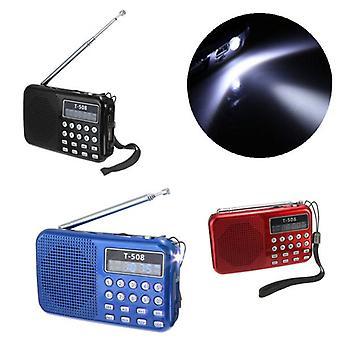 T508 LED ستيريو FM راديو المتكلم USB TF بطاقة MP3 مشغل الموسيقى