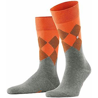 Burlington Hampstead Socks - Light Grey/Orange