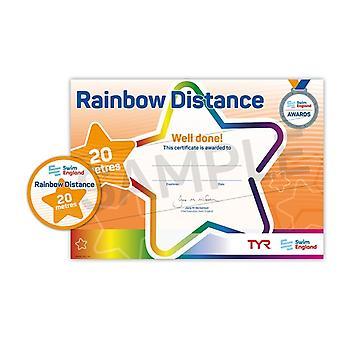 ASA zwemmen Engeland Rainbow afstand zwemmen Award - 20M