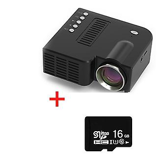 Mini Projektör 1920 * 1080p Destek Çözünürlüğü Hdmi Usb Ses Taşınabilir Projektör