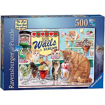 Ravensburger kissa, joka sai kerma 500 pala palapeliä