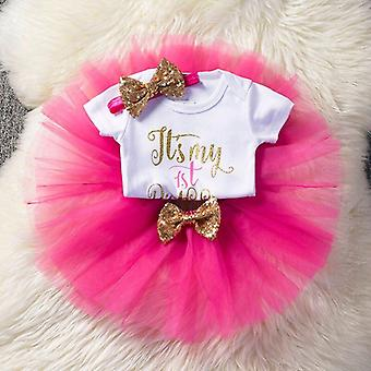 Baby kleding, Eenhoorn partij, Tutu jurk, pasgeboren baby 1e verjaardag outfits,