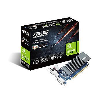 Asus gt710-sl-2gd5-brk geforce gt 710 2 gb ddr5 low profile grafische kaart voor stille htpc build (wit