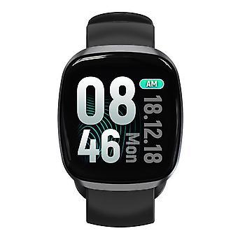Smart Watch, Fitness Tracker Watch Touch Screen med blodtrykslys søvnmåler i blodet Ring til SMS SNS Alert Music Control Vandtæt til Unisex kompatibel med Android IPhone-grå