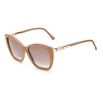 Lunettes de soleil Jimmy Choo ROSE/S 22C/NQ Crystal Nude/Brown Sm Silver