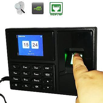 Tcp/ip Fingerprint Time Attendance System, Clock Recorder, Employee Work