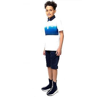 BOSS Kids Navy Mid-Rise Bermuda Shorts
